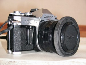 Canon AE-1 and Canon NewFD 50mm F1.8 lenses