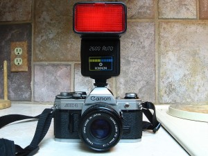 Canon AE-1 SLR camera